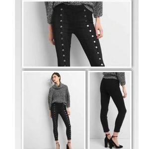 Gap True Skinny Super High Rise Black Jeans Sz 33R
